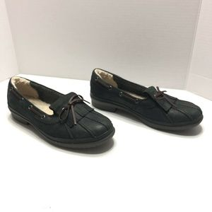 UGG Australia Shoes Size 8 Black Leather Moccasin